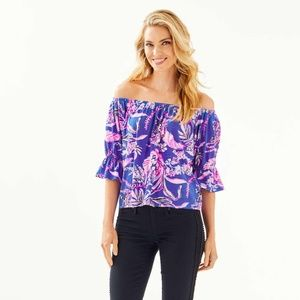 Lilly Pulitzer Channing Off-The-Shoulder Top XS